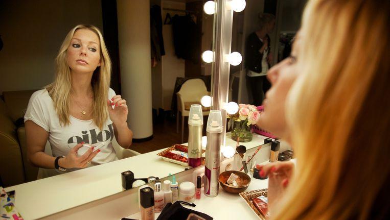 Chantal Janzen in haar kleedkamer in het DeLaMar Theater in Amsterdam. Beeld An-Sofie Kesteleyn/de Volkskrant