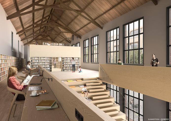 De bibliotheek kan wellicht een plek krijgen in de oude jongensschool in het centrum van Waalwijk.