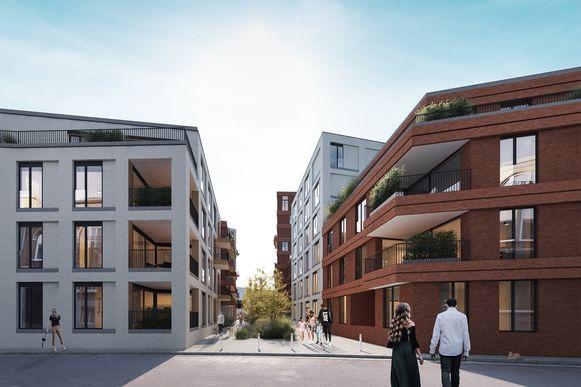 Aan de zijde van de Dijkstraat wordt een groene doorsteek doorheen de site voorzien, die loopt tot de andere kant aan de Oude Vest.