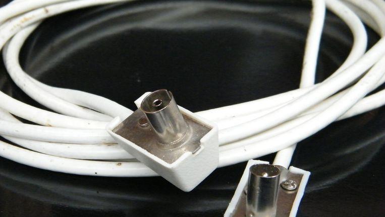 De coax-kabel: concurrentie mag je uitschakelen. Beeld Vincent Dekker