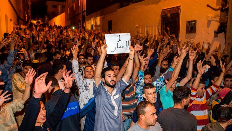Protesten in Marokko. Beeld afp