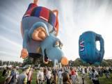 Bijzondere luchtballonnen kleuren de lucht boven Oldenzaal