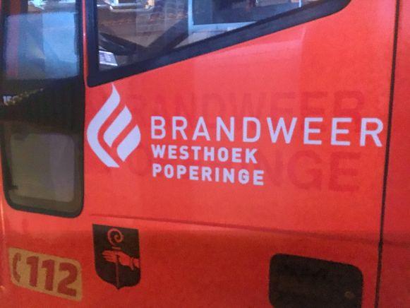 De brandweer van de zone Westhoek rukte uit.