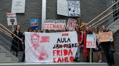 "Studentenbeweging Comac: ""Vervang Aula Jan Fabre door Aula Frida Kahlo"""