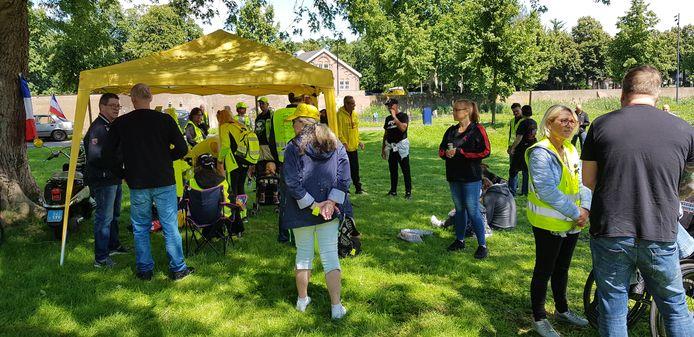 De demonstratie van de Gele Hesjes-beweging verliep zaterdagmiddag rustig in Den Bosch