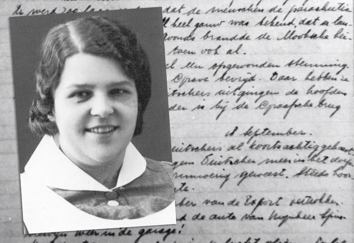 Wijkzuster Rie Bloem en een fragment uit haar dagboek.