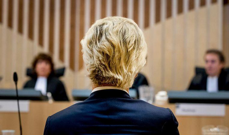 Het proces tegen Geert Wilders. Beeld anp