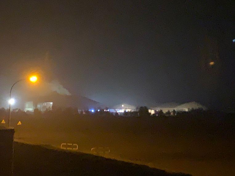 De schade is groot in de silo met biogas.