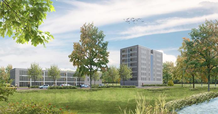 Een impressie van de nieuwbouw in Malvert.