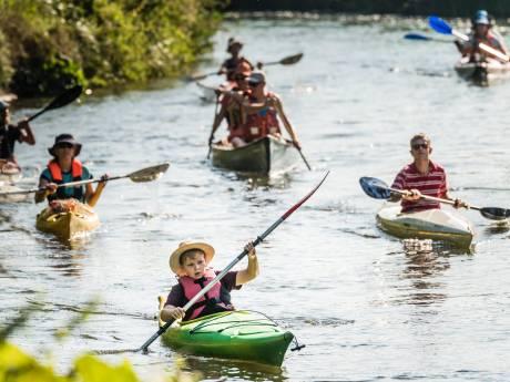 Berkel wordt door droogte voor kano en kajak 5 kilometer korter