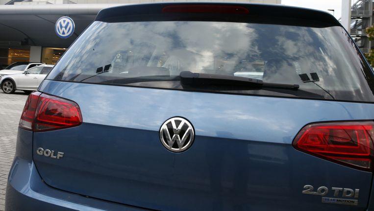 De Golf van Volkswagen was vorige maand op de Peugeot 308 na de best verkochte auto in Nederland. Beeld ap