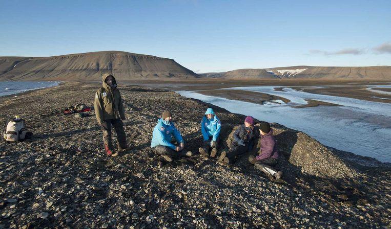 Het eiland Edgeøya, aan de oostkant van eilandengroep Spitsbergen, maakt indruk. Beeld anp