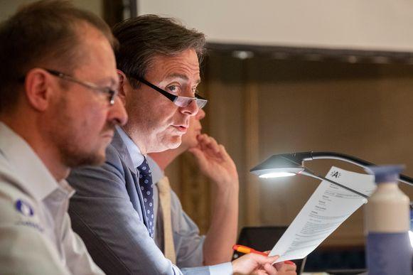 Bart De Wever, gisteren op de Antwerpse gemeenteraad.
