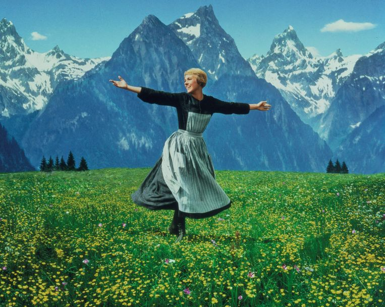 Julie Andrews (Maria) in 'The Sound of Music'