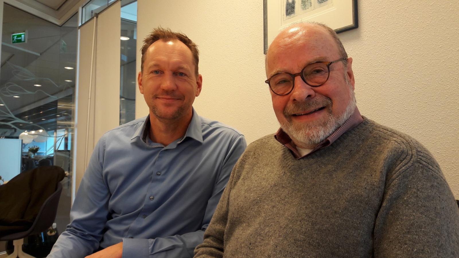 Harm Kersten en Peter Laukens (rechts): 'Tering naar de nering zetten'.