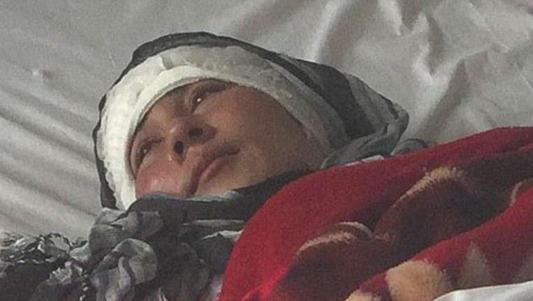Zarina ligt nu in stabiele toestand in het ziekenhuis.