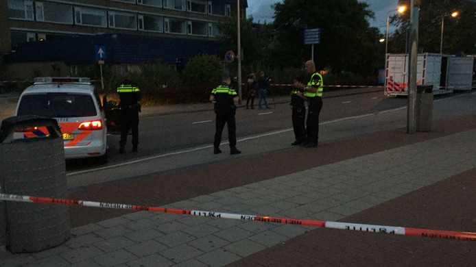 De politie heeft de Verdilaan afgezet nadat ze een man neerschoot die met een mes zwaaide.
