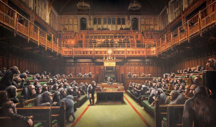 'Devolved Parliament' door Banksy.