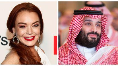 Lindsay Lohan bouwt 'vriendschap' uit met omstreden kroonprins van Saudi-Arabië