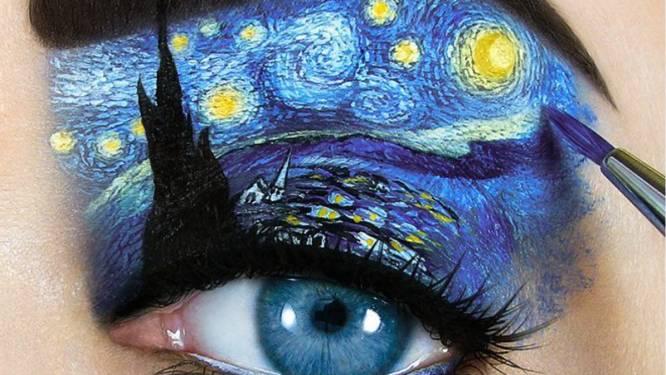 Eens wat anders dan smokey eyes: make-upartiest tovert oogleden om tot echte kunstwerkjes