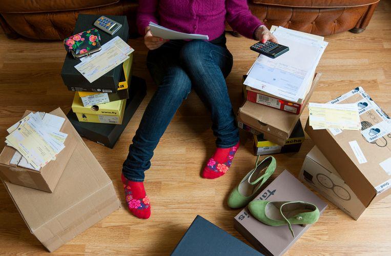 Momenteel hebben een half miljoen huishoudens problematische schulden. Beeld ANP XTRA