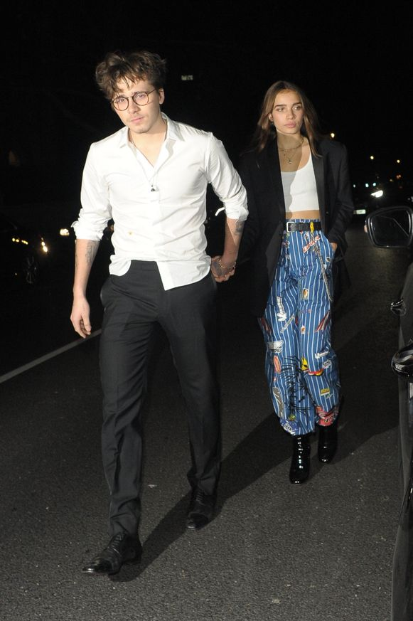 Brooklyn Beckham en zijn ex-vriendin Hana Cross.