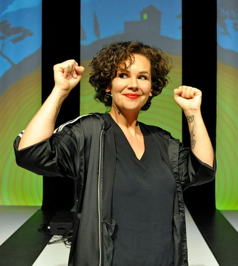 Sara Kroos: 'Ik neem in Verte die strenge stem in ons hoofd eens even een stuk minder serieus.'  Beeld