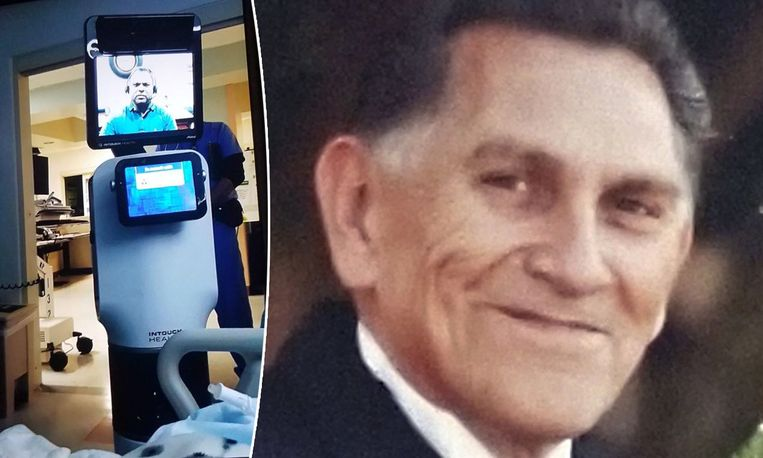 Via de robot links vernam Ernest Quintana het harde nieuws.
