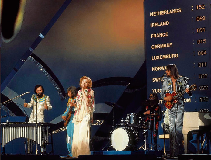 Teach In op het Songfestival in 1975.