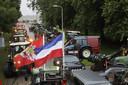 Ook waren er veel demonstrerende boeren die met de auto waren gekomen.