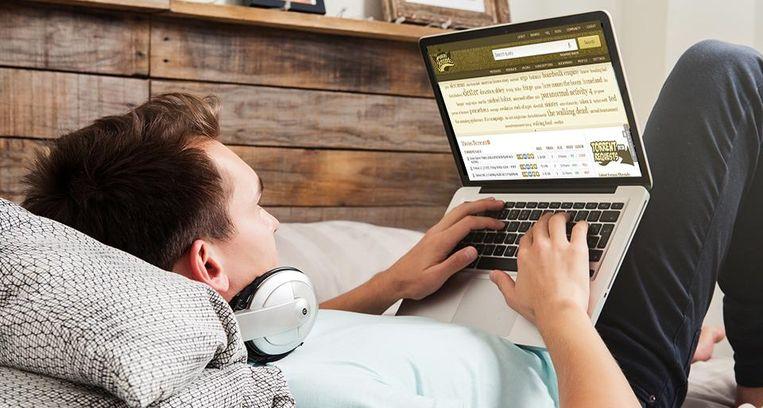 De laptop, nieuwe favoriete partner in bed. Beeld thinkstock