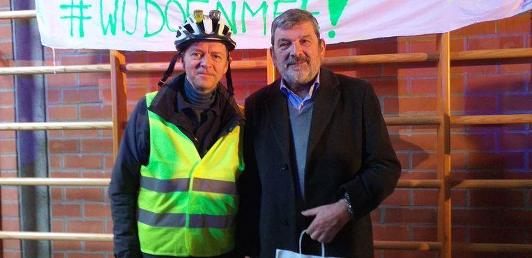 Frank Deboosere en burgemeester van Malle Harry Hendrickx