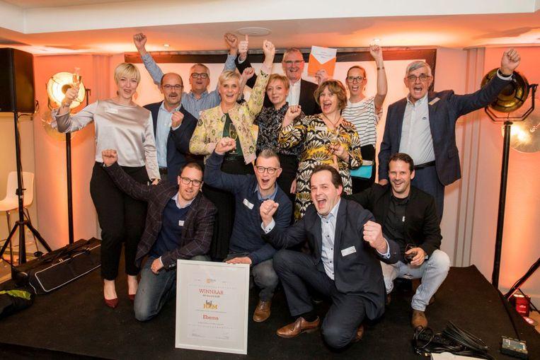 Betonbedrijf Ebema wint de Limburgse HR Award 2018, een onderscheiding die uitgereikt wordt door Voka Limburg.
