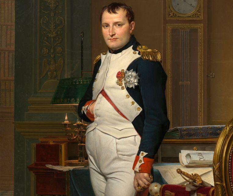 Keizer Napoleon, geschilderd door Jacques-Louis David, 1812. Beeld Getty Images