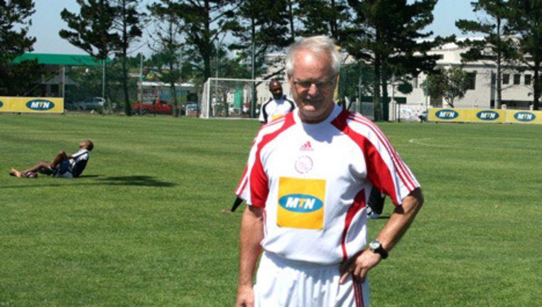 Foppe de Haan bij Ajax Kaapstad. De Haan was sinds 2009 coach van het Zuid-AFrikaanse filiaal van Ajax. Foto © gpd Beeld