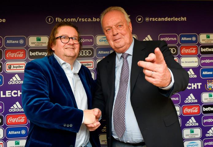 Marc Coucke et Roger Vanden Stock, l'ancien président du Sporting