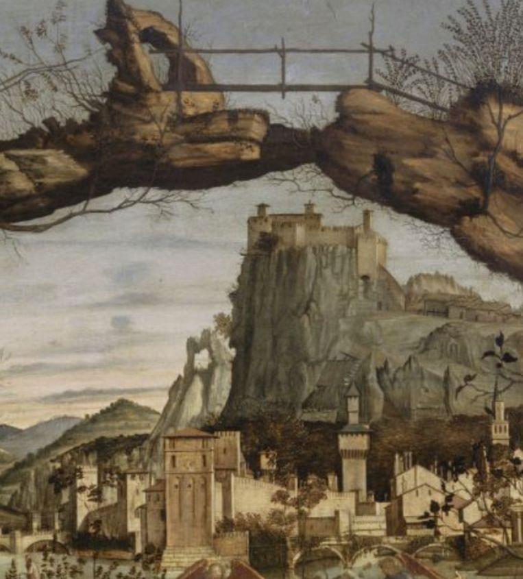 Van dhr. Martin Drenthen, Heilige conversatie, Vitre Carpaccio, 1460-65, Musee du Petit Palais, Avignon Beeld Musee du Petit Palais, Avignon