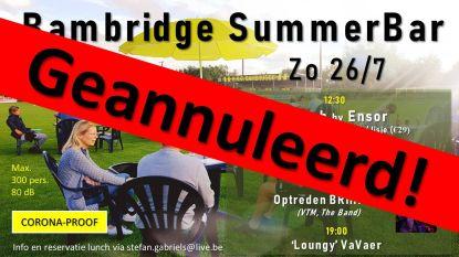 Geen kermis is geen kermis: Bambridge Summer Bar op voetbalplein geannuleerd