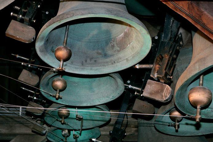 Een deel van de Carillonklokken van de Grote Kerk in Dordt.