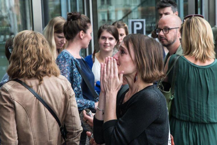 Het werd vakbondsafgevaardigde Melissa Cowpe (37) gisteren allemaal even te veel in de arbeidsrechtbank in Antwerpen.