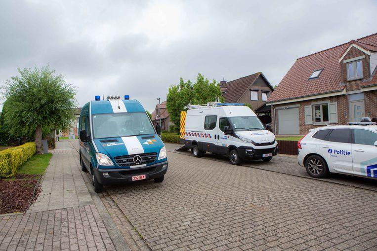 De politie in Dilbeek.