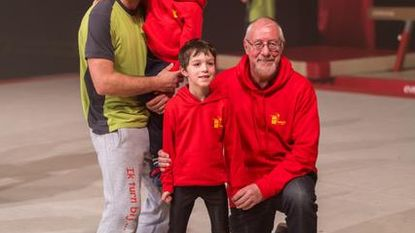 Drie generaties turners op rij