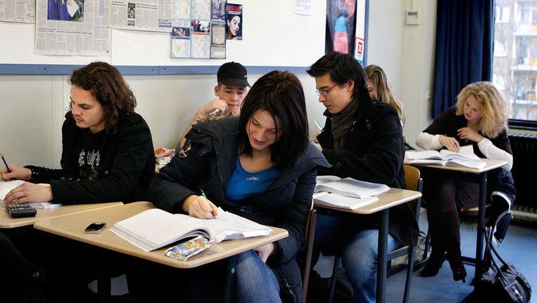 Mbo-leerlingen tijdens de les. Beeld ANP