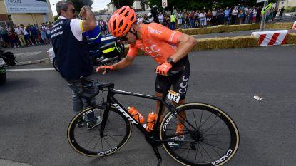 Eerste opgave in Tour: Van Avermaet verliest ploegmakker Bevin