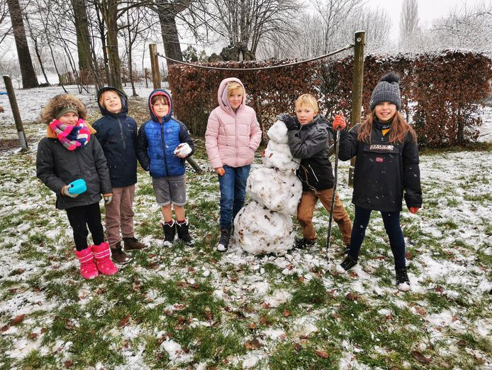 Dolle sneeuwpret in VBS Sint-Katrien.