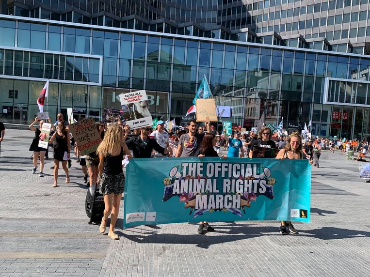 Animal Rights March in Brussel.