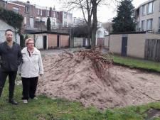 Speelplek weg, bult zand blijft achter in Stationskwartier Breda