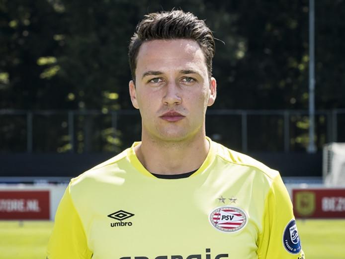 Luuk Koopmans in 2015 na zijn komst bij PSV.