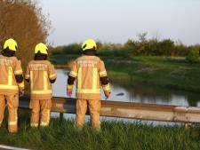 Mysterieuze zak in water langs Wemeldingse Zandweg blijkt landbouwplastic