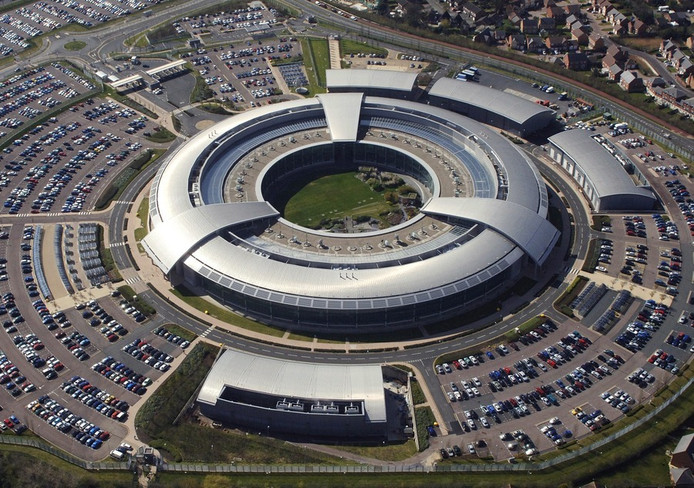 Government Communications Headquarters (GCHQ) in Cheltenham, Gloucestershire.
